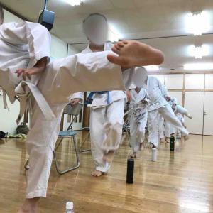 札幌空手 厚別 澄川 昇級試験間近で稽古に熱が入ってきた!
