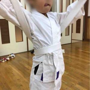 空手 澄川 少年少女 帯は自分で結ぶ!