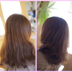 素髪による改善あるある♪気がつけばデジパー&カラーで綺麗が続いていた👍✨K子さん(^^♪