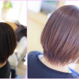 素髪ヘアケア→矯正ストパー⇒ヘアカラーで、+のループ♪みなさん…髪が✨綺麗すぎでしょ❗️(^^♪