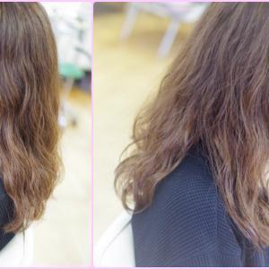 素髪によるツヤ✨と バオバブデジパーでふわゆるカール♪な〜まら🌸春っぽくなったSさん♪───O(≧∇≦)O────♪