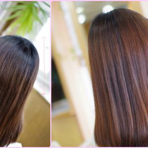 素髪・縮毛矯正ストパー✨地毛ですか❓…目が覚めるような美髪のAさん👍✨北国の湿気対策も 原因と結果♪