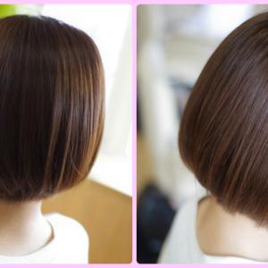 素髪のリセットパワー❗️とんでもない美髪ミニボブ✨Wさん👍✨今こそ 髪をきれいにしよう!(^O^)/