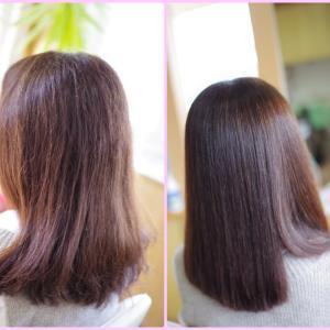 素髪ケアで改善♪からの~10年ぶりの縮毛矯正ストパーが❗️自然すぎて💫新しい魅力発見なTさん👍✨