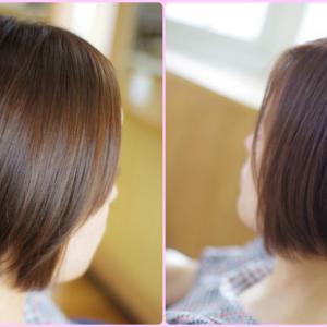 素髪体験 あれから…変わった!別人のような✨美髪が似合っている👍✨Tさん(^^♪