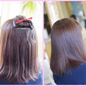 素髪ケア&バオバブで 良くなりすぎ~(^^♪完璧に❗️生まれ変わったNさんの美髪👍✨シルクのような矯正・ストレート✨