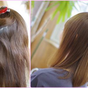 素髪・縮毛矯正は 貴女にあわせたオーダーメイド技術です❗️Aさんの奇跡の美髪👍✨バオバブならでは です(^^♪