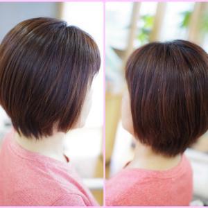 素髪縮毛矯正から4カ月後の ツヤ髪ショートがヤバい✨Sさん👍✨顧客様は神様かっ😆♪