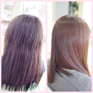 素髪縮毛矯正1年ぶり♪マジで若返るわ~👍✨そんな髪になる方法、知ってますか??