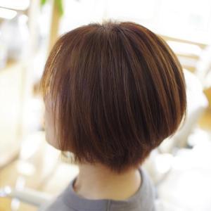 素髪ケア&バオバブ通い♪大人カラー続けて、大人かわいい✨ツヤ髪ショート👍✨