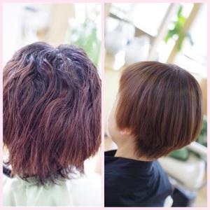素髪・縮毛矯正メンテナンス♪DOーSケア&矯正&カラー積み重ねて✨美髪のルーティーン👍✨