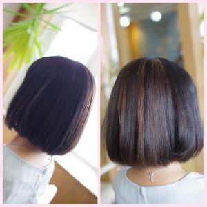 素髪縮毛矯正メンテナンス!髪の湿気対策との 両立で✨美髪が続きますね♪😊
