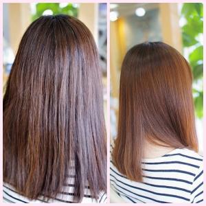 素髪・縮毛矯正メンテナンス!おとなかわいい効果♪うるツヤ✨仕上げで美しい~一年の始まり👍✨