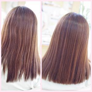 素髪縮毛矯正・進化系!最高級✨うるツヤ美髪の見本はこう❗️❗️美しすぎる~Oさん👍✨