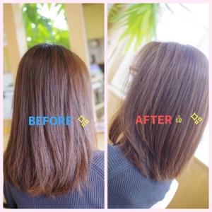 Tさんの、すっぴん美髪も!この秋から進化系へ👍✨…髪がパサつく 原因をご存知❓