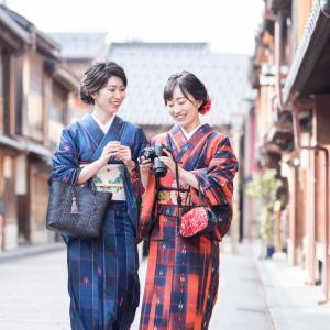 金沢・ひがし茶屋街とその周辺で着物姉妹コーデで撮影をしてきました