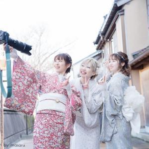 【Lovegraph】金沢・ひがし茶屋街周辺で着物フレンズフォト撮影
