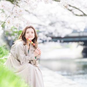 桜が満開の富山で桜ポートレートと夜桜を撮っていく【松川沿い・富山県中央植物園・環水公園】