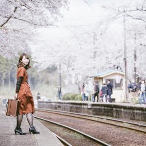 さくら駅として知られる能登鹿島駅&西岸駅で桜ポートレート