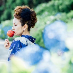 紫陽花が見ごろの本興寺(金沢のあじさい寺)&卯辰山花菖蒲園で着物ポートレートしてきました。