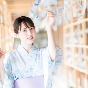 風鈴の道で有名な櫛田神社(富山県射水市)は浴衣の雰囲気が最高でした。