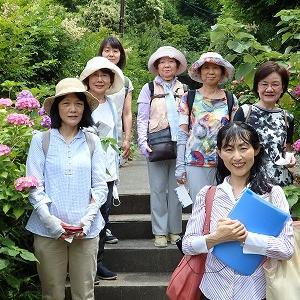 鎌倉湖畔でお花やバードウオッチングやのカルチャースクール講座♪