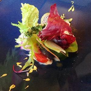 【北鎌倉】鎌倉野菜のアートなサラダ&トロトロ牛ほほ肉のビロード煮@紫(ゆかり)