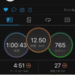 60分ペース走で12km!