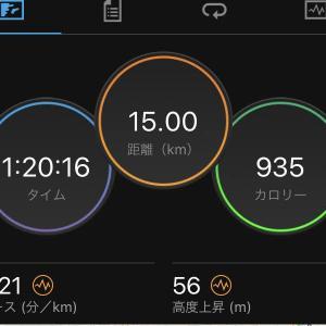 朝イチでインターバル走1km×6本、予想以上にしんどかった