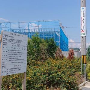 【開店情報】(仮称)眼鏡市場 クロスモール富田林店(富田林市) ・駐車場内に建設中の建物は眼鏡店?