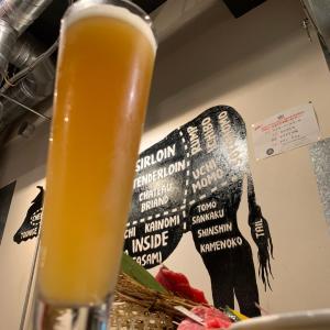 半年ぶりの錦糸町でクラフトビール堪能「カドウシ熟成焼肉とクラフトビール」
