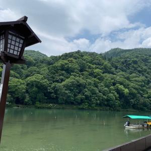 夏の渡月橋 (嵐山)