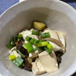 オートミールダイエット 茄子と豆腐の煮浸し乗せ