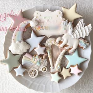 【オーダークッキー】ハーフバースデーのクッキー