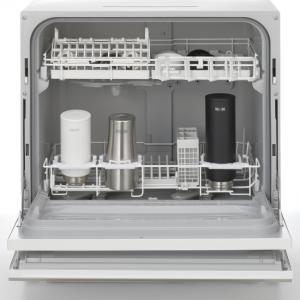 高温と高圧洗浄で除菌もする卓上型食器洗い乾燥機