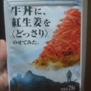 ふりかけ「牛丼に、紅生姜を<どっさり>のせてみた」