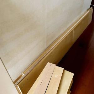 地震にそなえて本棚を撤去
