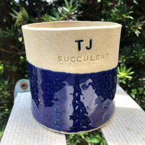 素敵な贈り物・・・手作りの鉢。