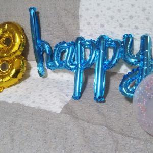 100円ショップの光る風船や数字・文字バルーンで飾り付け~お誕生日やパーティーに!