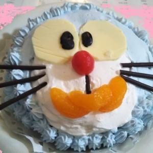 パパ作ドラえもんケーキとチョコケーキ~お誕生日は好きな物尽くしにしておうちでお祝いしよう!
