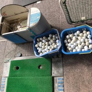 今日はゴルフ練習