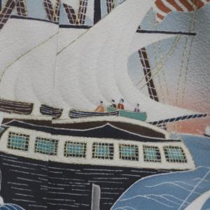 横浜浮世絵の色留袖