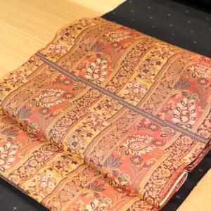 大島紬と名古屋帯のコーデ