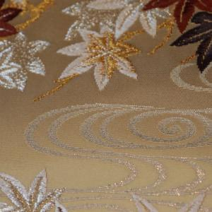 四季紅葉文袋帯
