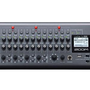ZOOM LiveTrak L-20R:ライブにもレコーディングにも使える!最大22in 4outの入出力を誇るデジタルミキサー