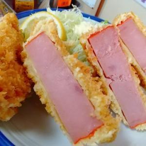 「文福飯店」さんの「ハムカツ定食」