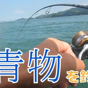 ゴムボートで青物と戦う!