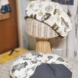 アニマル柄のベレー帽♫