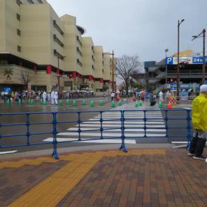 新型ウイルス拡散の中、北九州マラソン