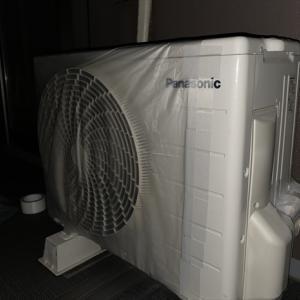 マンション排気口とエアコン室外機の台風対策